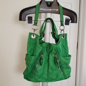 B Makowsky Hobo Leather Handbag